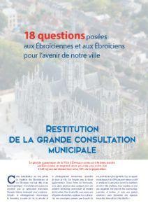 Restitution de la grande consultation municipale