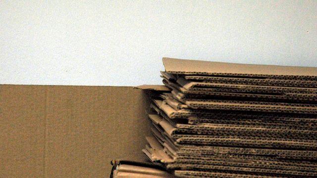 cartons empilés