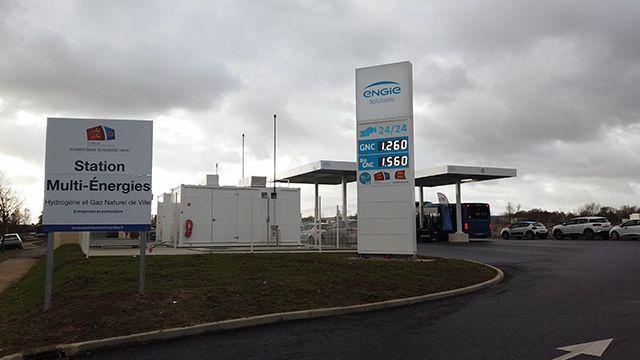 Station multi-énergies hydrogène et gaz naturel au service des usagers