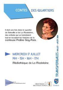 Contes des quartiers - La Madeleine