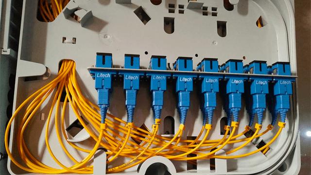 boitier de raccordement de la fibre