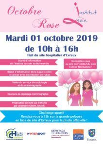 Affiche octobre rose 2019