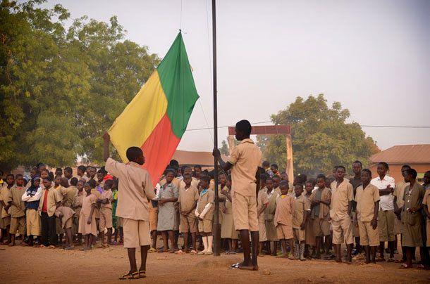 Drapeau à Djougou