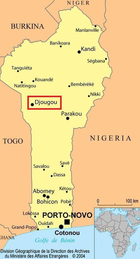 Carte du Benin