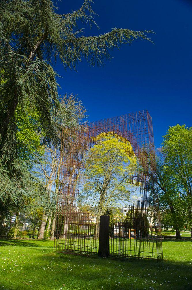 Photo sculpture dans le jardin botanique