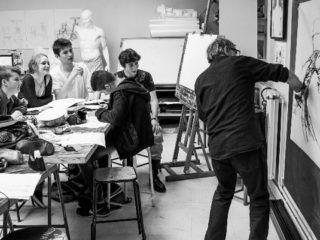 Photo d'un stage à la maison des Arts Solange Baudoux