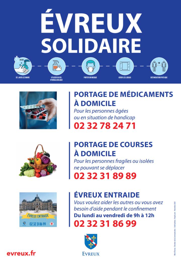 Affiche Évreux Solidaire