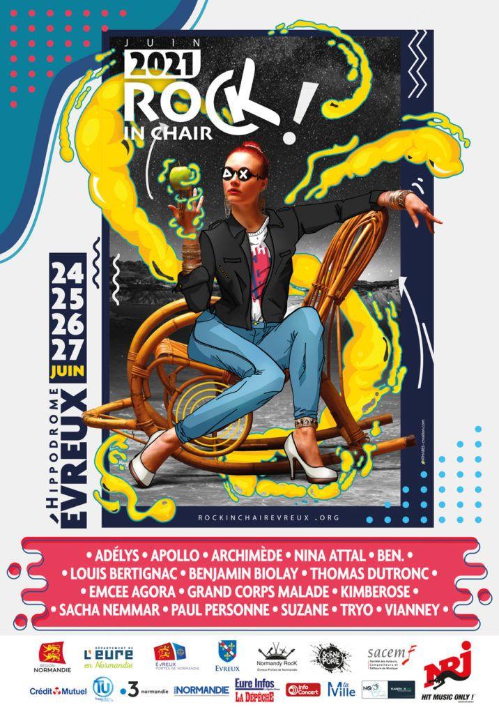 Affiche rock in chair Evreux 2021