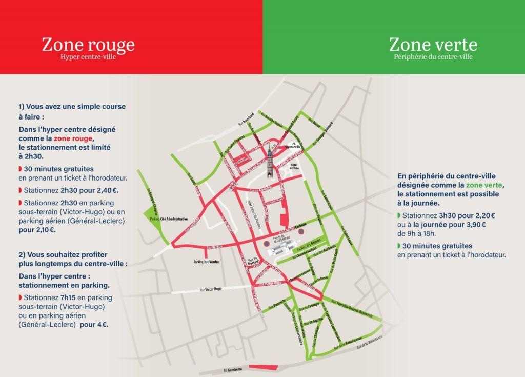 Zones de stationnement