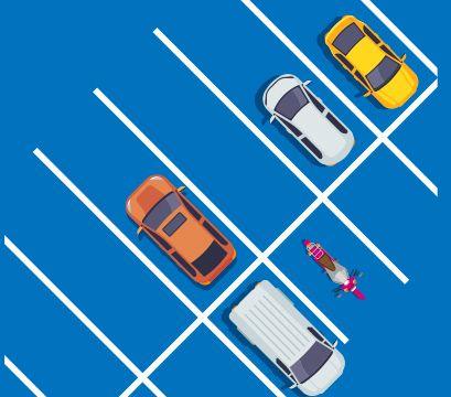 dessin de voitures stationnées
